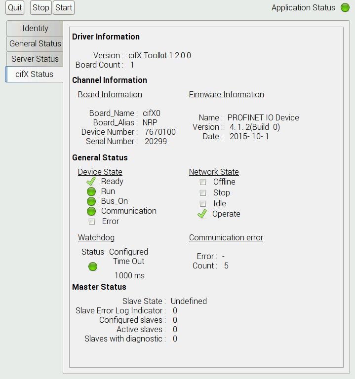 netRAPID cifX Status
